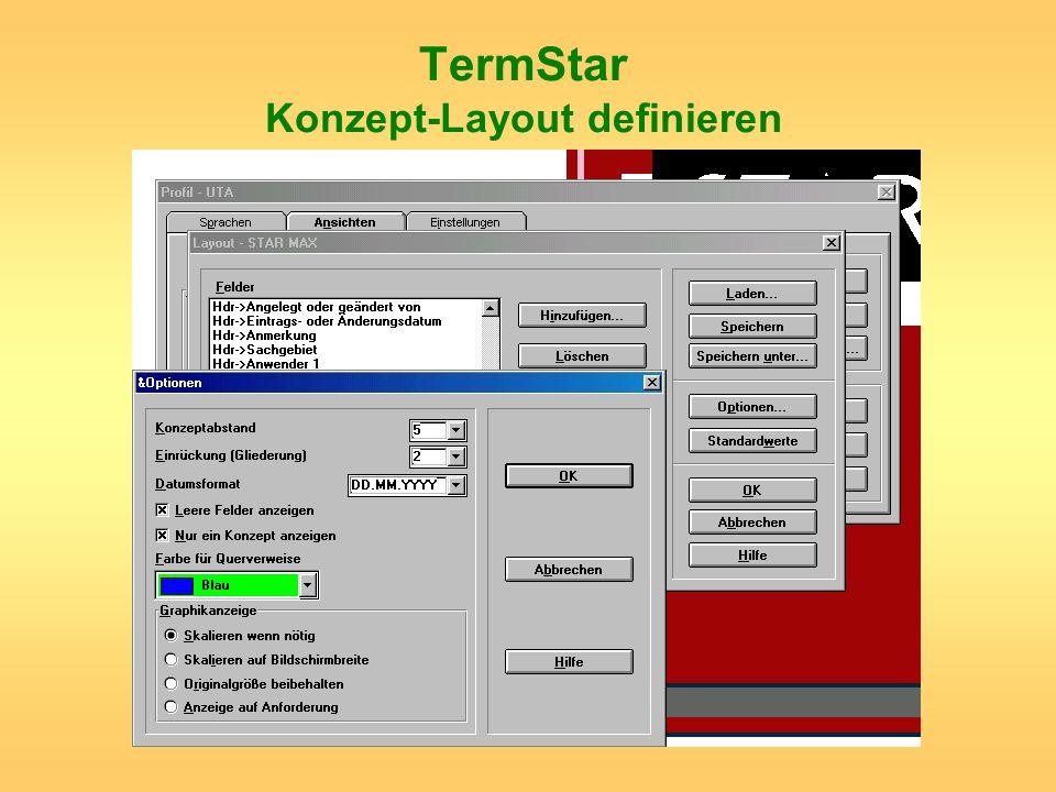 TermStar Konzept-Layout definieren
