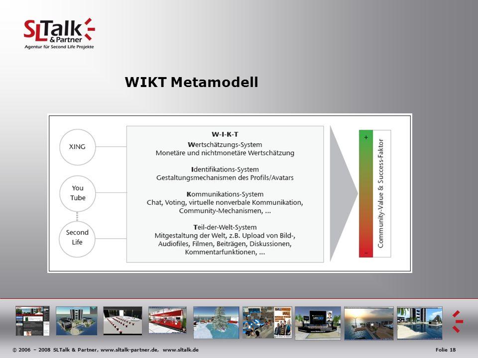 © 2006 – 2008 SLTalk & Partner, www.sltalk-partner.de, www.sltalk.deFolie 18 WIKT Metamodell