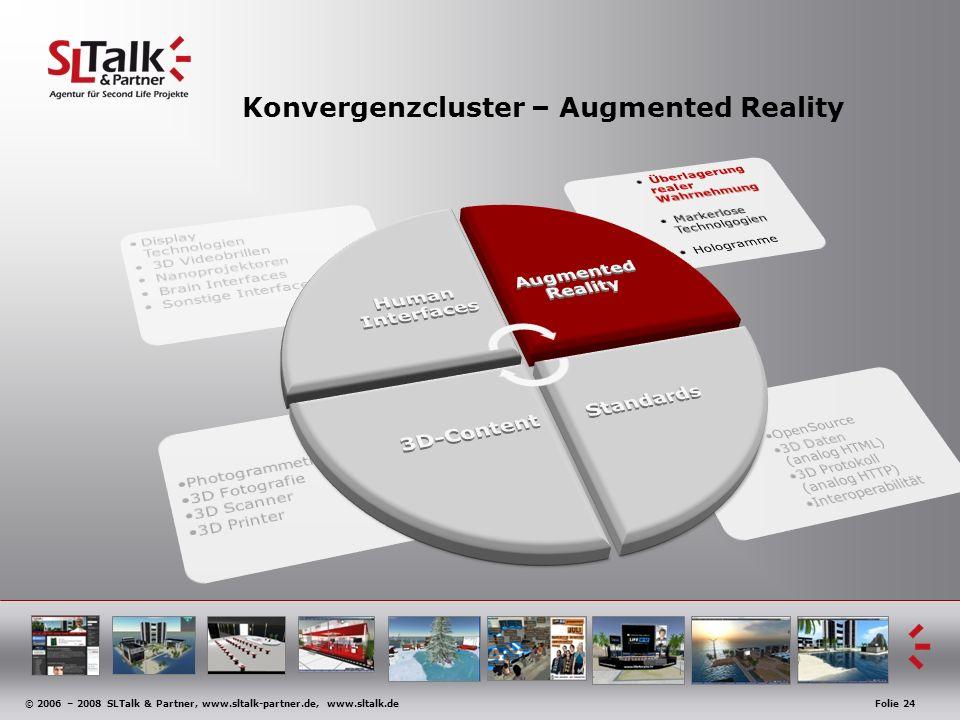 © 2006 – 2008 SLTalk & Partner, www.sltalk-partner.de, www.sltalk.deFolie 24 Konvergenzcluster – Augmented Reality