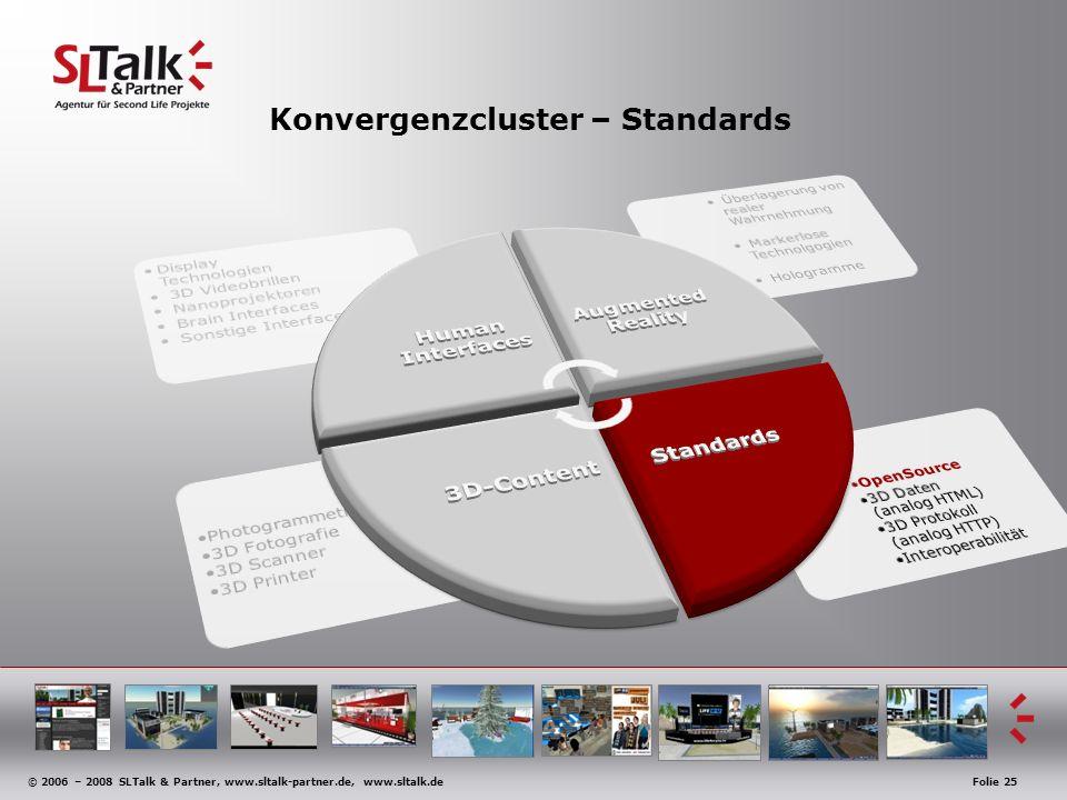 © 2006 – 2008 SLTalk & Partner, www.sltalk-partner.de, www.sltalk.deFolie 25 Konvergenzcluster – Standards