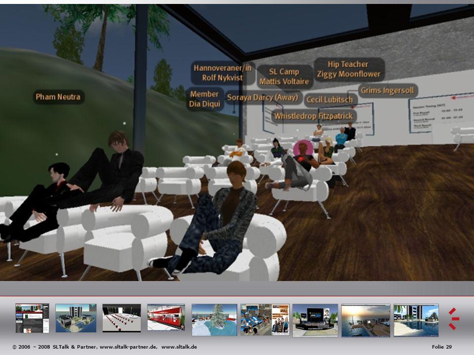 © 2006 – 2008 SLTalk & Partner, www.sltalk-partner.de, www.sltalk.deFolie 29 Anwendungsbeispiele