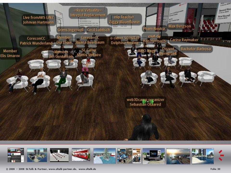© 2006 – 2008 SLTalk & Partner, www.sltalk-partner.de, www.sltalk.deFolie 30 Anwendungsbeispiele
