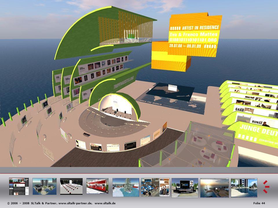 © 2006 – 2008 SLTalk & Partner, www.sltalk-partner.de, www.sltalk.deFolie 44 Anwendungsbeispiele