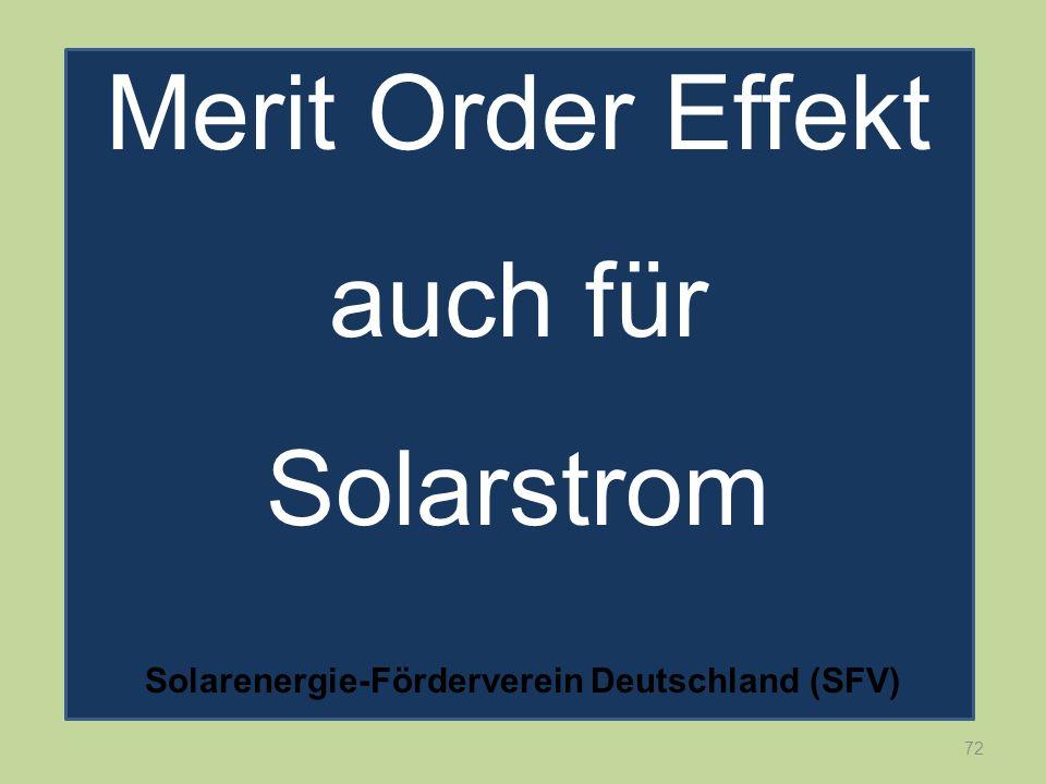 72 Merit Order Effekt auch für Solarstrom Solarenergie-Förderverein Deutschland (SFV)