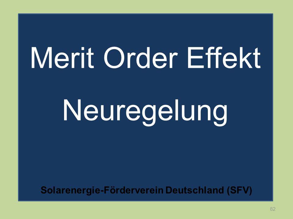 82 Merit Order Effekt Neuregelung Solarenergie-Förderverein Deutschland (SFV)