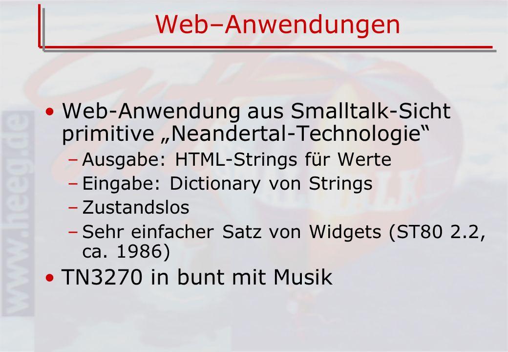 Die Versorgungslücke Request Browser Smalltalk Domäne Außenwelt app domain Application Model Response