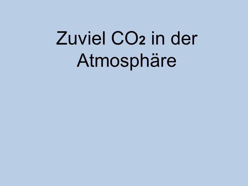 Zuviel CO 2 in der Atmosphäre