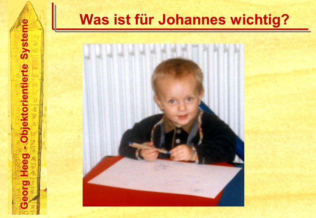 Georg Heeg - Objektorientierte Systeme Was ist für Johannes wichtig?