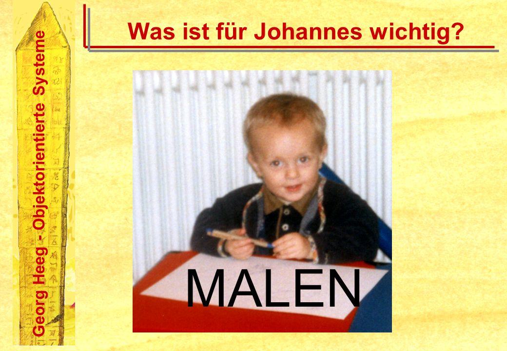 Georg Heeg - Objektorientierte Systeme Was ist für Johannes wichtig? MALEN