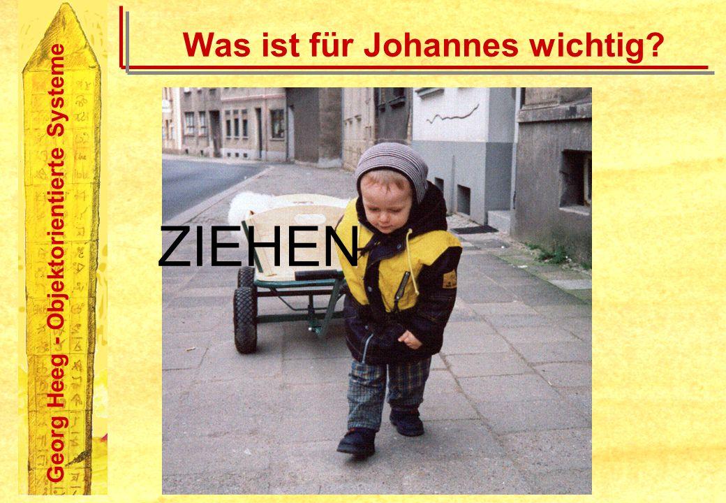 Georg Heeg - Objektorientierte Systeme Was ist für Johannes wichtig? ZIEHEN