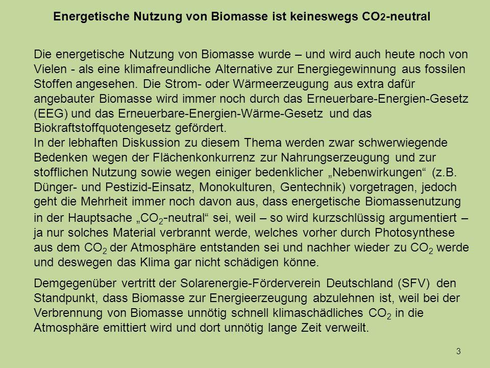 Netto - Photosynthese CO 2 -Bildung 44 1020304050 Jahre Verweildauer von C in gebundenem Zustand am Erdboden CO 2 -Verweildauer in der Atmosphäre Null 10Null5Jahre Film 1