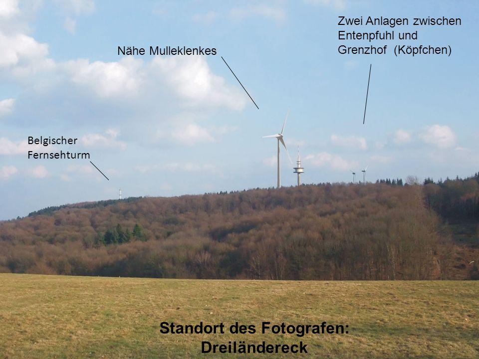 Zwei Anlagen zwischen Entenpfuhl und Grenzhof (Köpfchen) Nähe Mulleklenkes Belgischer Fernsehturm Standort des Fotografen: Dreiländereck