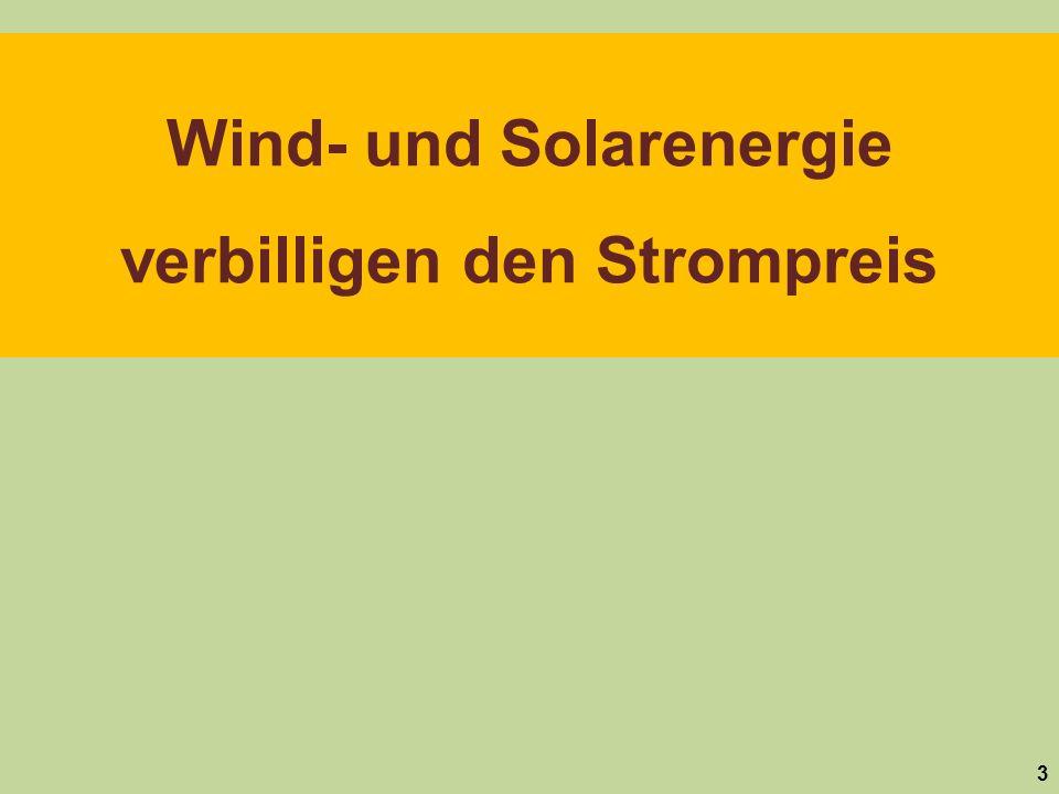 Wind- und Solarenergie verbilligen den Strompreis 3