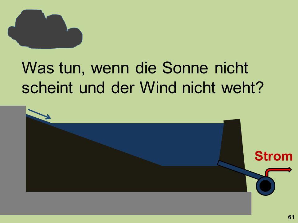 Strom Was tun, wenn die Sonne nicht scheint und der Wind nicht weht? 61