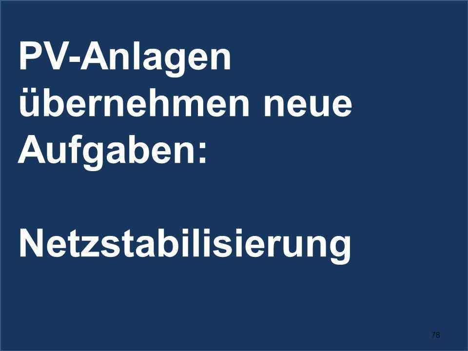 78 PV-Anlagen übernehmen neue Aufgaben: Netzstabilisierung