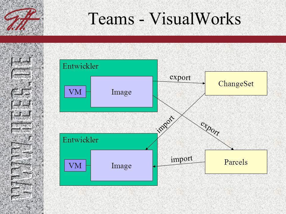 Teams - VisualWorks Entwickler VM Image Entwickler VM Image Oracle DB2 MS-SQL PostgreSQL Access StORE-Repository
