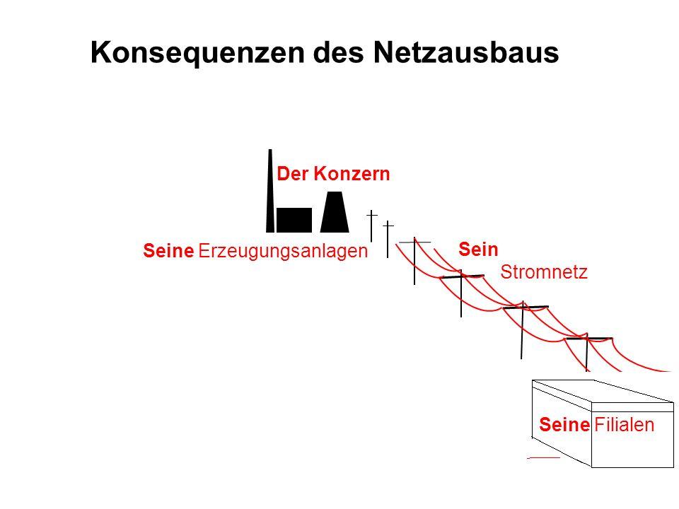 Der Konzern Konsequenzen des Netzausbaus Sein Stromnetz Seine Erzeugungsanlagen Seine Filialen