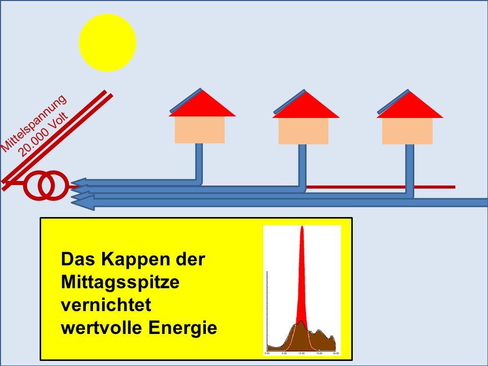 Mittelspannung 20.000 Volt Das Kappen der Mittagsspitze vernichtet wertvolle Energie