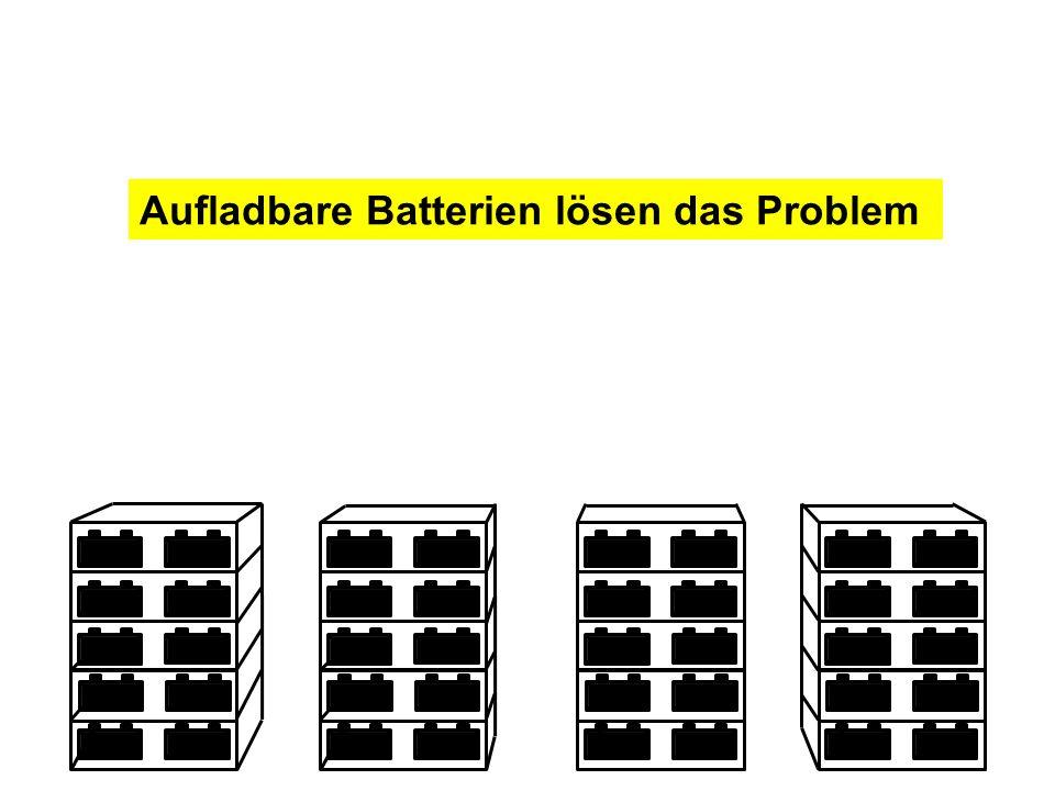 Aufladbare Batterien lösen das Problem