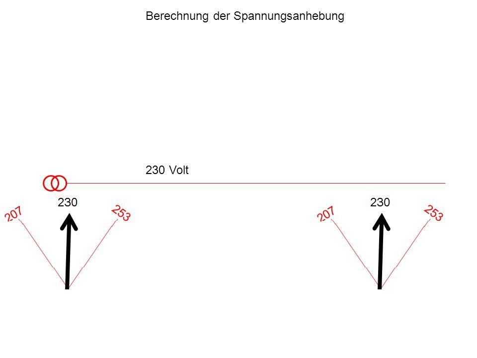 230 Volt Berechnung der Spannungsanhebung