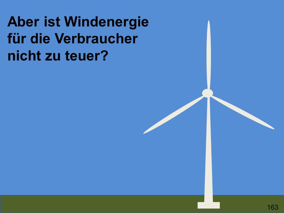 Aber ist Windenergie für die Verbraucher nicht zu teuer? 163