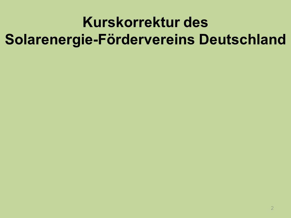 2 Kurskorrektur des Solarenergie-Fördervereins Deutschland