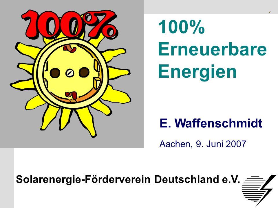 Solarenergie-Förderverein Deutschland e.V.S.1 100% Erneuerbare Energien E.