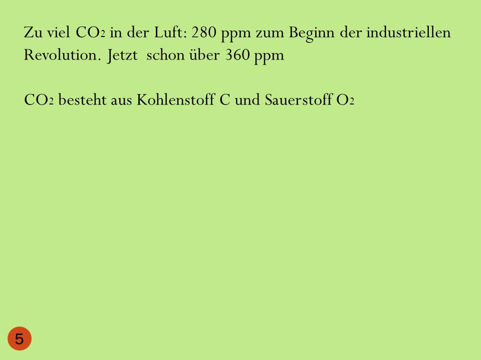 CO 2 besteht aus Kohlenstoff C und Sauerstoff O 2 5
