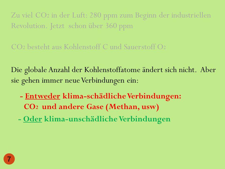 13 Jahre 26 Jahre 28 C = 1,3 C = 2,6 C-Verweildauer in der Biomasse verlängern .
