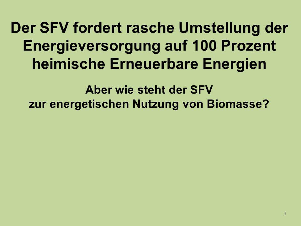 34 Jede Verbrennung von Biomasse stört das Gleichgewicht