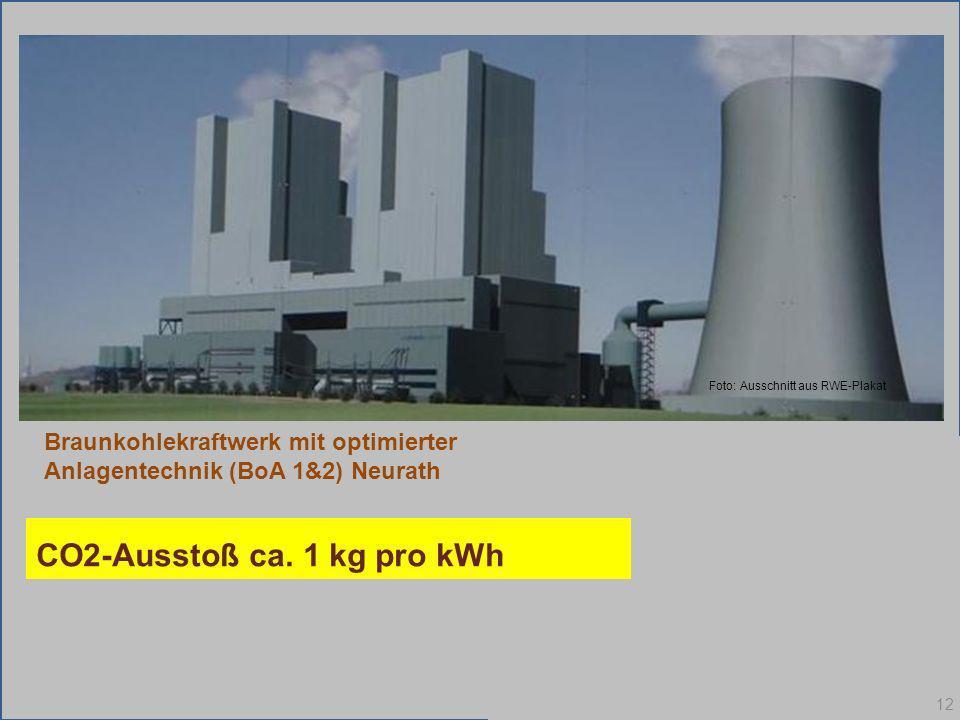 Bei Einweihung am 14. Aug. 2012 Dieses Kraftwerk leiste einen herausragenden Beitrag zum Gelingen der Energiewende Braunkohlekraftwerk mit optimierter