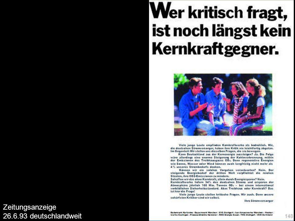 148 Zeitungsanzeige 26.6.93 deutschlandweit