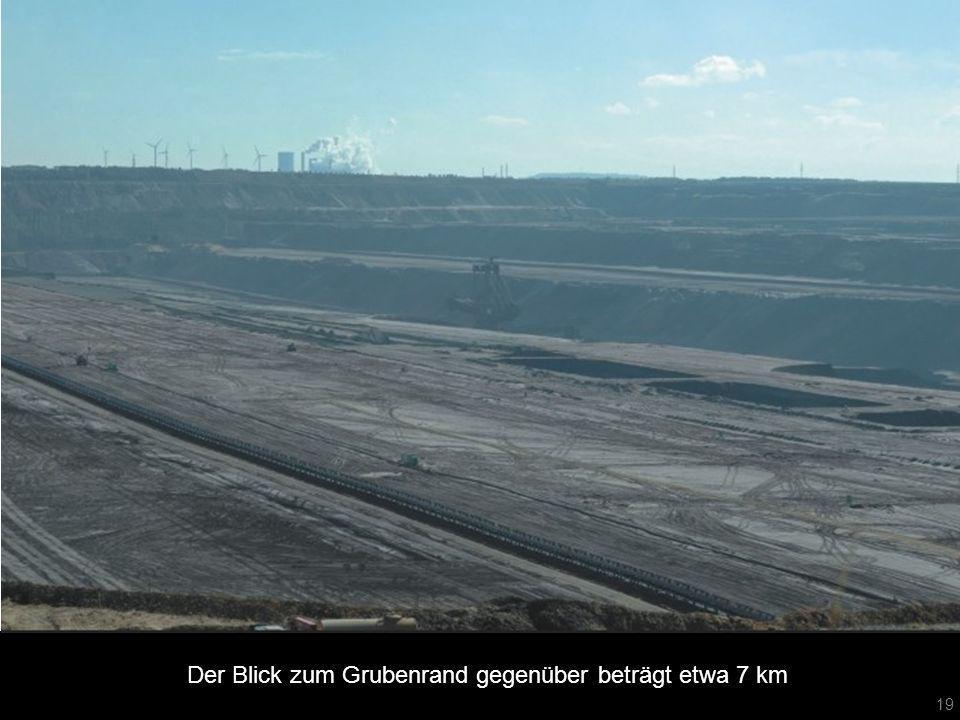 Der Blick zum Grubenrand gegenüber beträgt etwa 7 km 19