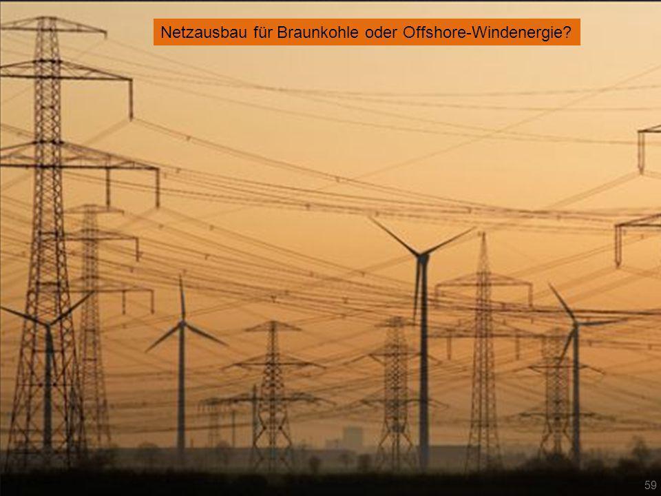 Netzausbau für Braunkohle oder Offshore-Windenergie? 59