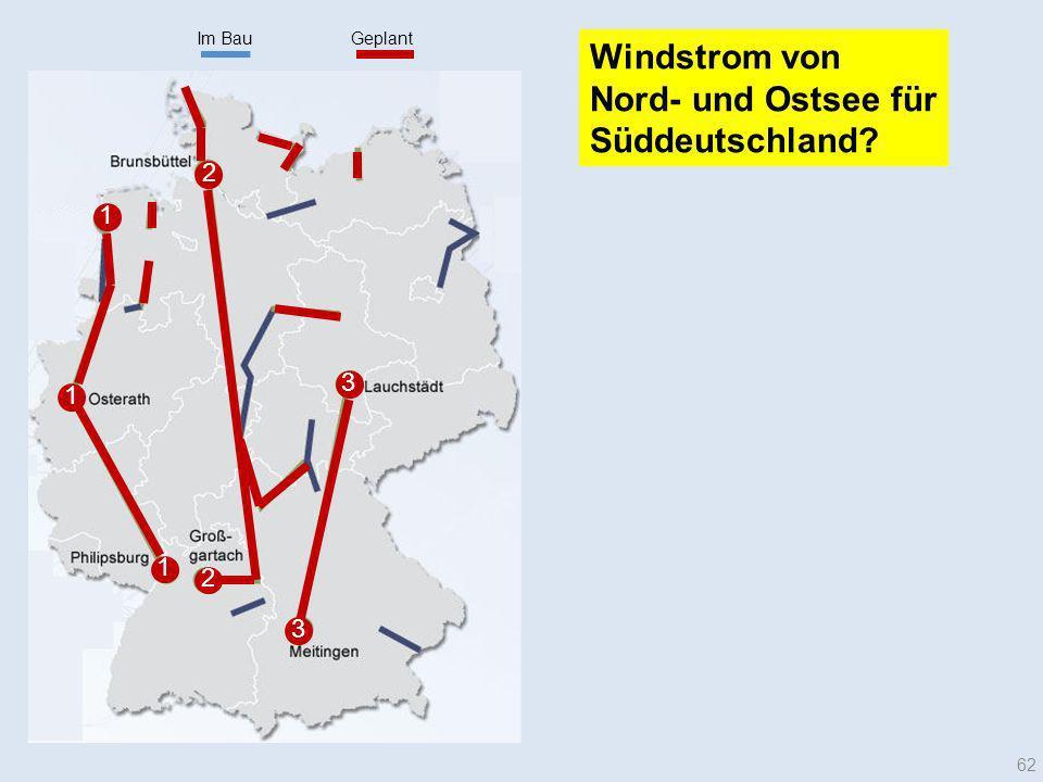 Im BauGeplant 1 1 1 2 3 2 3 62 Windstrom von Nord- und Ostsee für Süddeutschland?