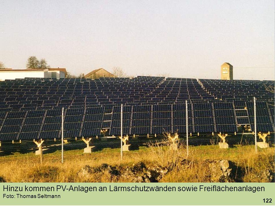 Hinzu kommen PV-Anlagen an Lärmschutzwänden sowie Freiflächenanlagen Foto: Thomas Seltmann 122
