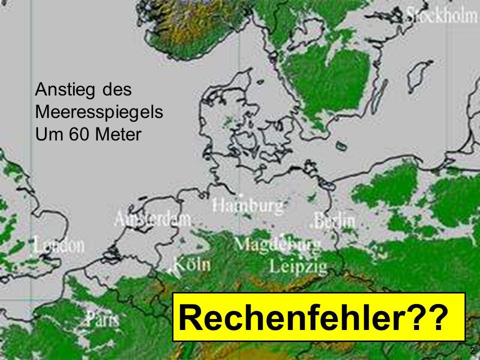 Solarenergie-Förderverein Deutschland 2 Anstieg des Meeresspiegels Um 60 Meter 2 Rechenfehler??