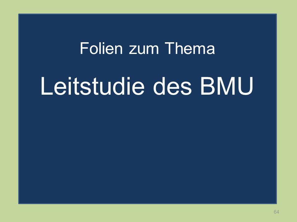 64 Folien zum Thema Leitstudie des BMU