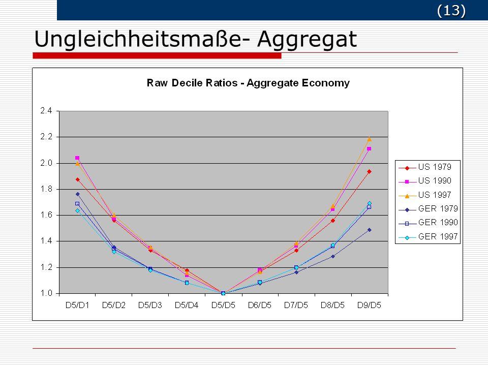 (13) (13) Ungleichheitsmaße- Aggregat