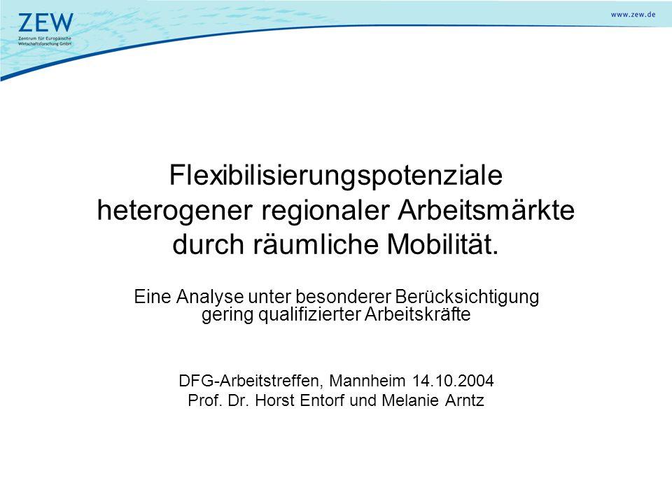 Flexibilisierungspotenziale heterogener regionaler Arbeitsmärkte durch räumliche Mobilität. Eine Analyse unter besonderer Berücksichtigung gering qual
