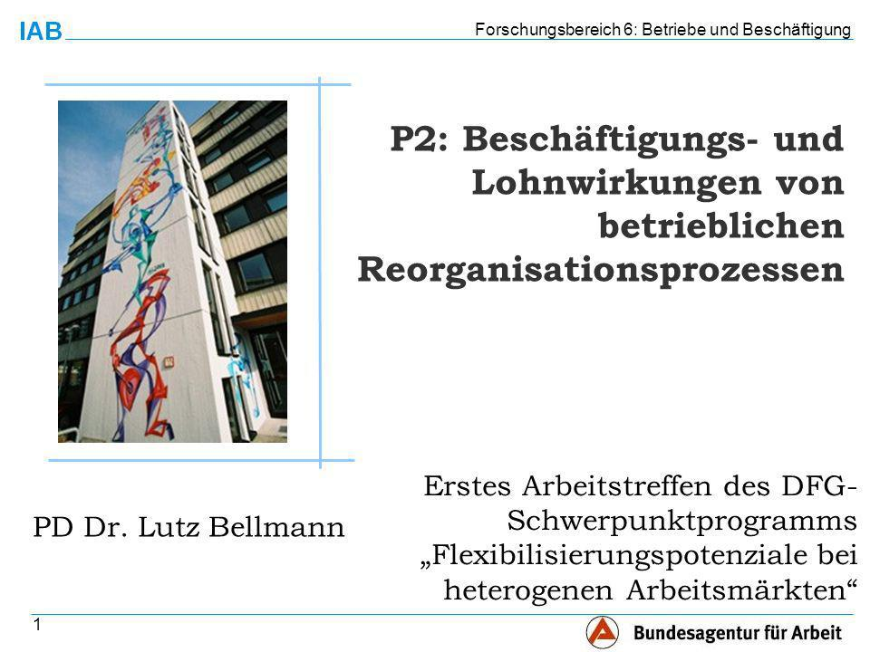 Forschungsbereich 6: Betriebe und Beschäftigung 1 PD Dr.