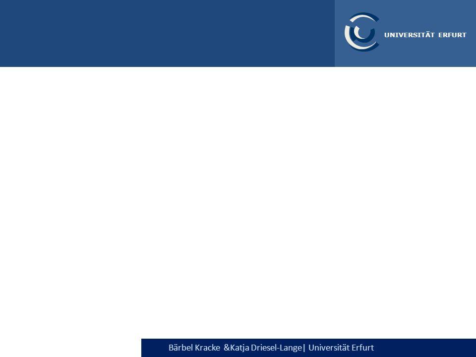 Bärbel Kracke &Katja Driesel-Lange| Universität Erfurt UNIVERSITÄT ERFURT Ausgewählte Studienwünsche im gesamten Bundesgebiet, HIS 2005 Berufwahlverhalten (1) Ergebnisse