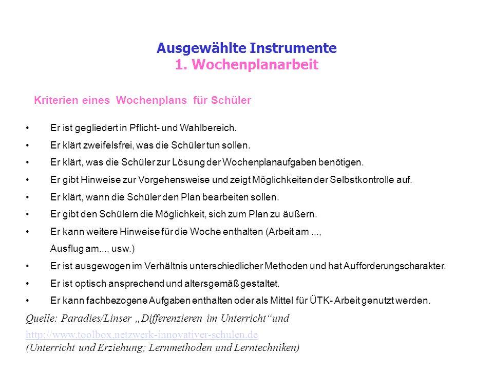 Ausgewählte Instrumente 1.