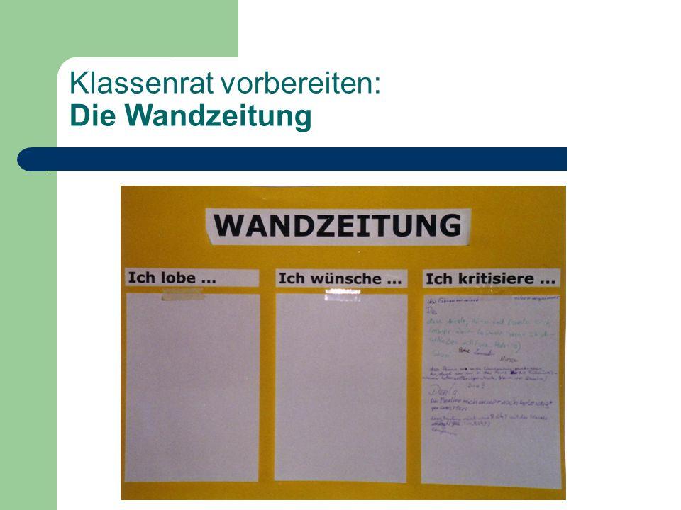 Klassenrat vorbereiten: Die Wandzeitung