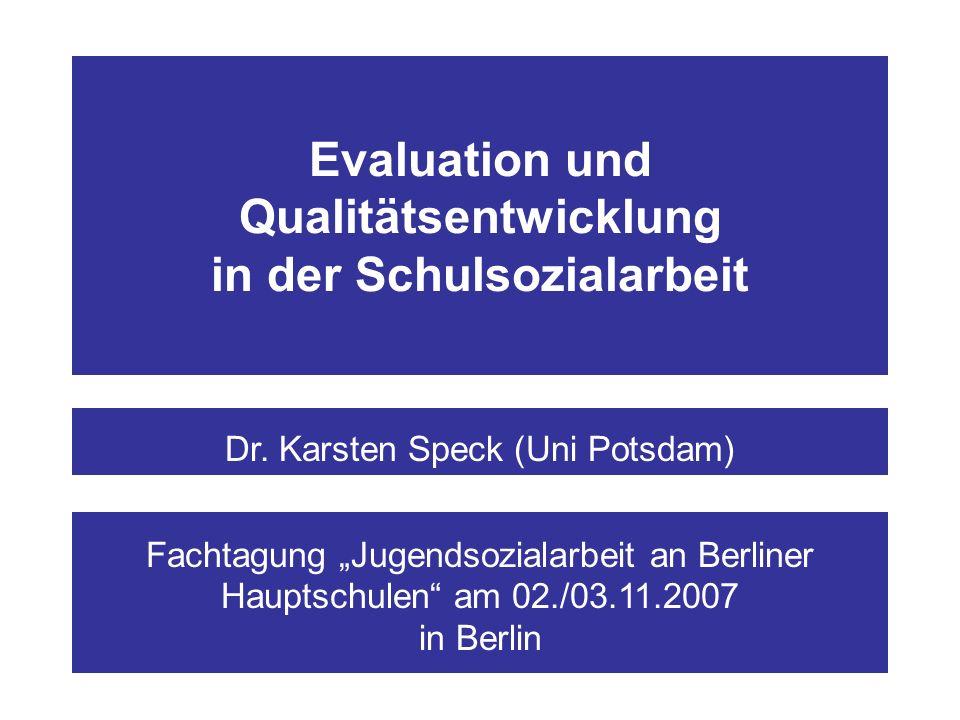Abbildung 2: Gliederung 1.Einführung in die Qualitäts- und Evaluationsdebatte 4.