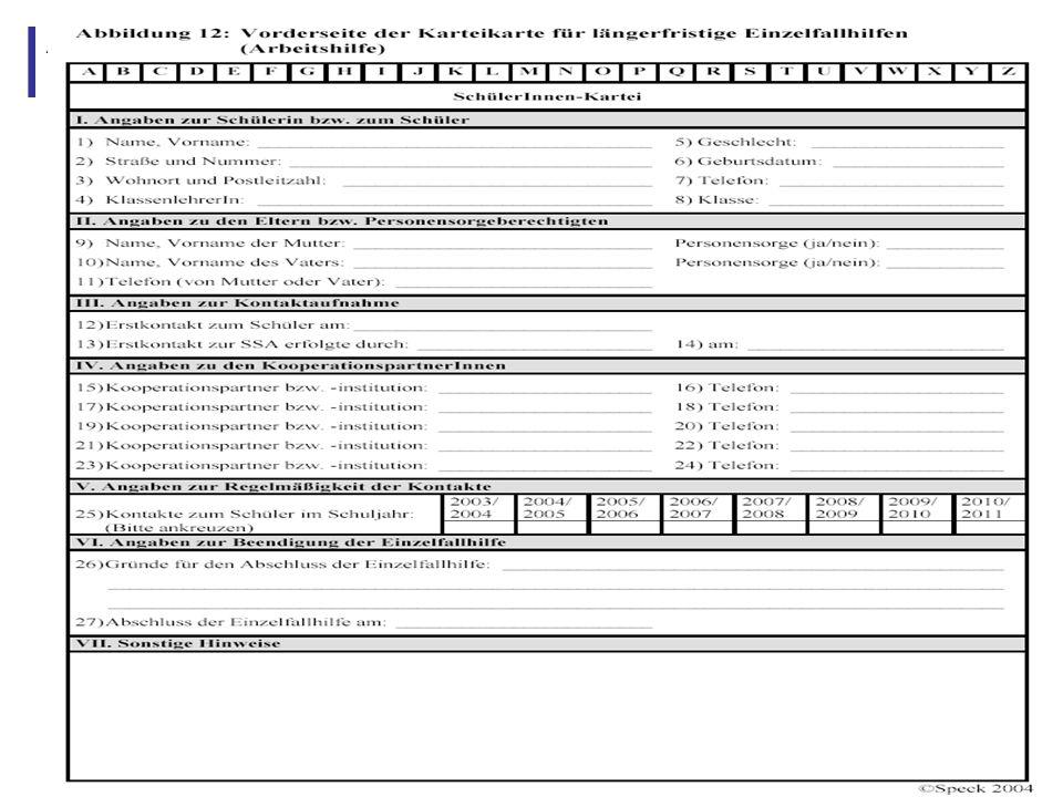 Abbildung 23: Rückseite Karteikarte für längerfristige Einzelfallhilfen