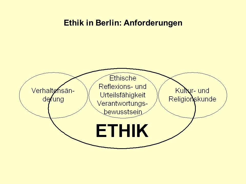 Ethik in Berlin: Thesen Eine Ursache für die Diskussion über die Einführung des Ethikunterrichts ist die Beobachtung einer zunehmenden sozialen Verelendung von Teilen der Bevölkerung und insbesondere der Jugendlichen.