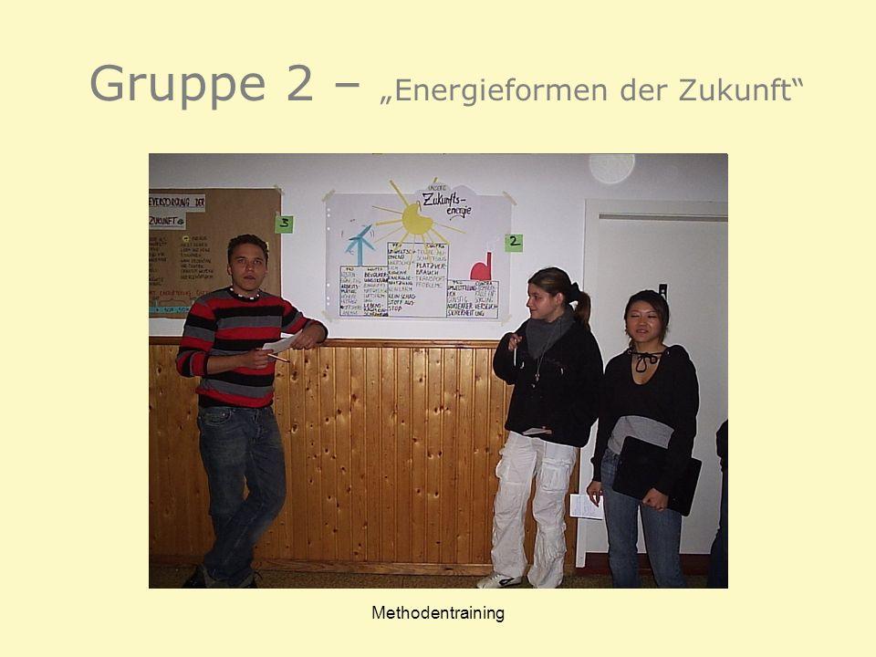 Methodentraining Gruppe 2 – Energieformen der Zukunft