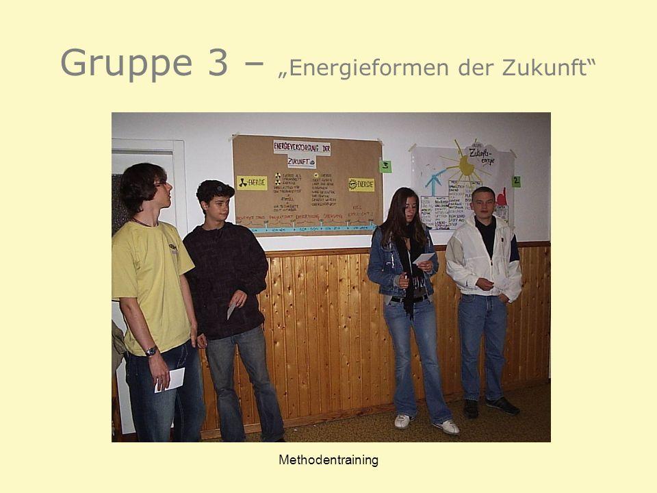 Methodentraining Gruppe 3 – Energieformen der Zukunft