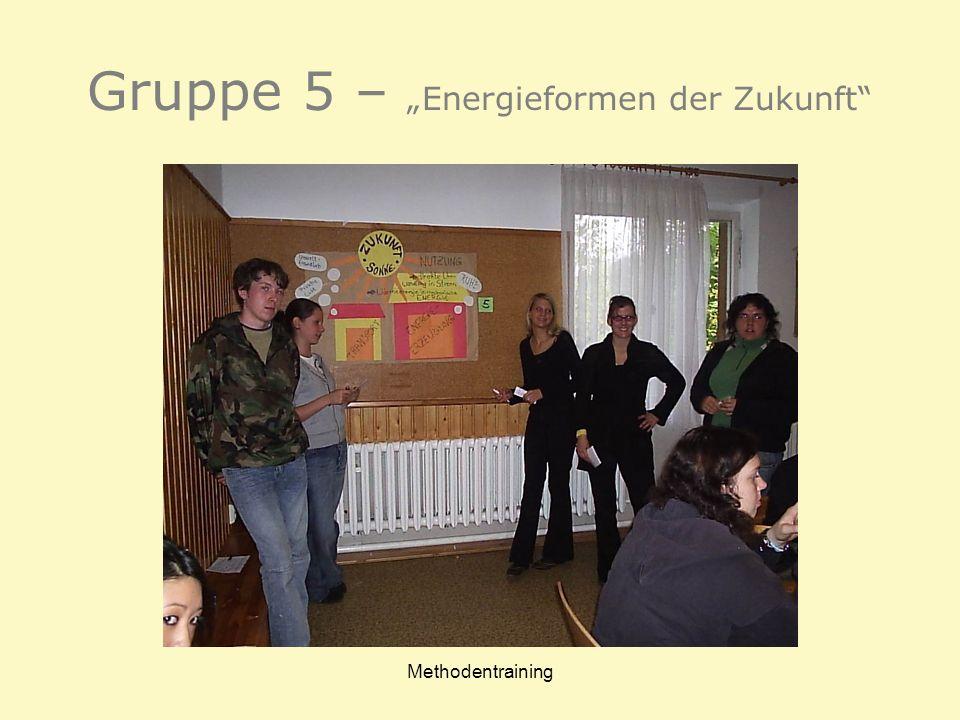 Methodentraining Gruppe 5 – Energieformen der Zukunft